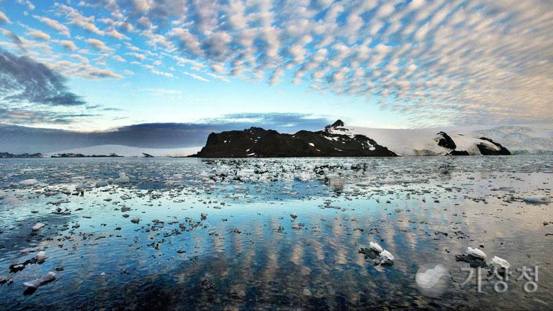 남극의 양떼구름