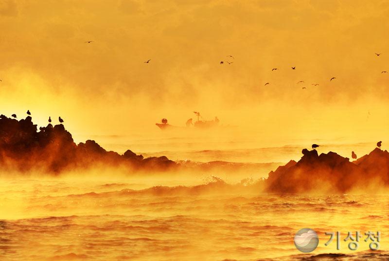 대왕암의 해무(바다안개)