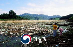 대청댐 쓰레기