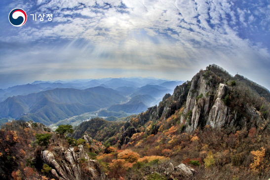 대둔산의 가을 하늘